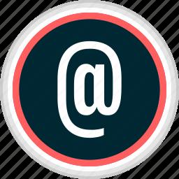 at, contact, email, menu, nav, navigation, sign icon