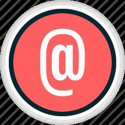 at, contact, menu, nav, navigation, sign icon