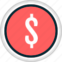 dollar, menu, money, nav, navigation, sign icon