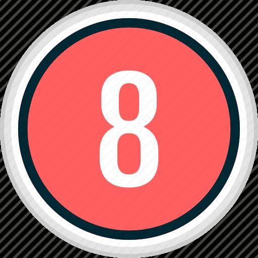 eight, menu, nav, navigation, number icon