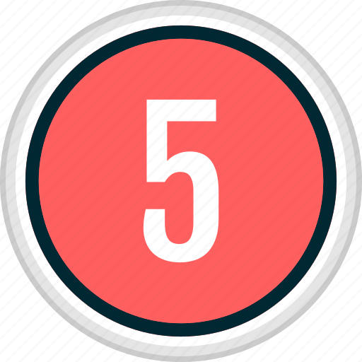 five, menu, nav, navigation, number icon