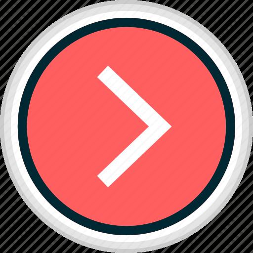 forward, go, menu, nav, navigation icon