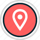gps, menu, nav, navigation, pin icon