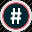 hashtag, menu, nav, navigation icon