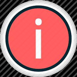 i, info, menu, nav, navigation icon