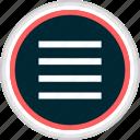 menu, hamburger, nav, navigation icon