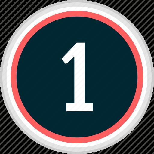 menu, nav, navigation, number, one icon