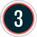 menu, nav, navigation, number, three icon