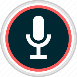 menu, microphone, nav, navigation, record icon