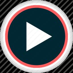 media, menu, nav, navigation, play, video icon