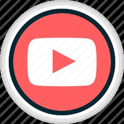 menu, music, nav, navigation, play, video icon