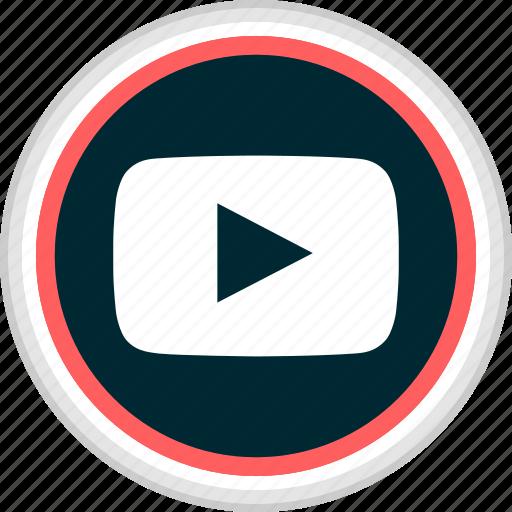 menu, nav, navigation, play, video, youtube icon