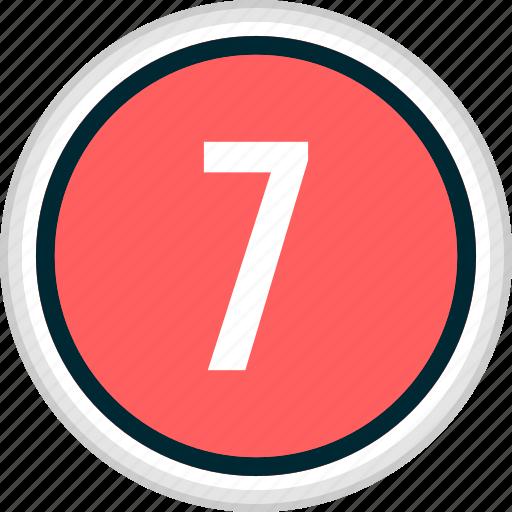 menu, nav, navigation, number, seven icon
