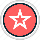 menu, nav, navigation, star icon