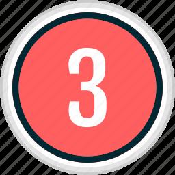 menu, nav, navigation, number, three icon