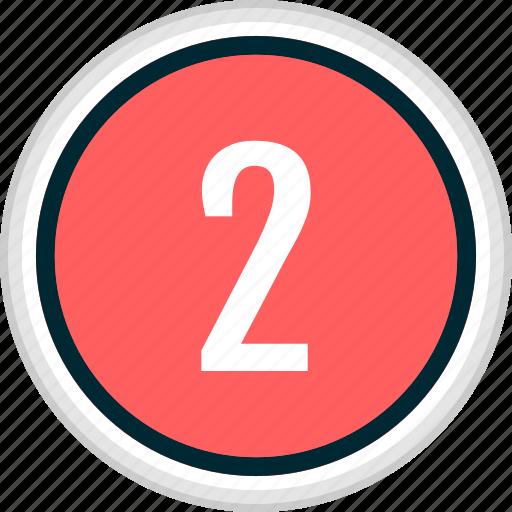 menu, nav, navigation, number, two icon