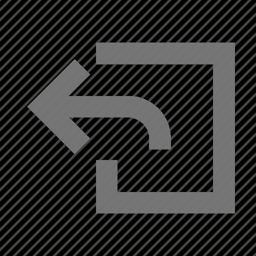 arrow, back, navigation, previous icon