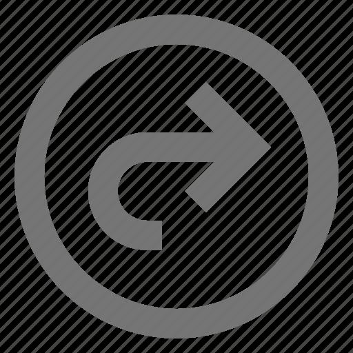 arrow, direction, forward, move, navigation, next, right, skip icon