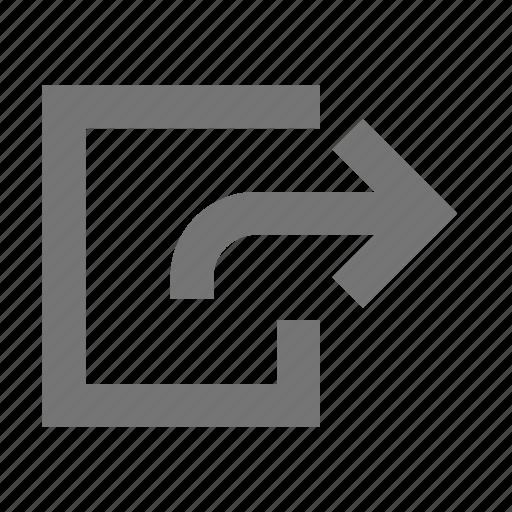 arrow, forward, move, navigation, next, right, skip icon