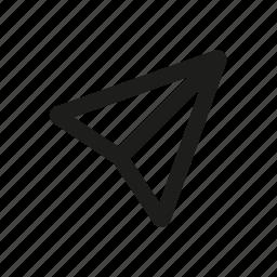 arrow, marker, market, navigation icon