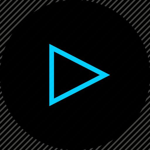 media, play, sound, video icon