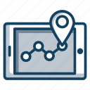 map location, map navigation, mobile location, pin location, pinpointer, track route icon