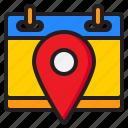 calendar, location, nevigation, map, event