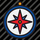 compass, location, nevigation, direction, map