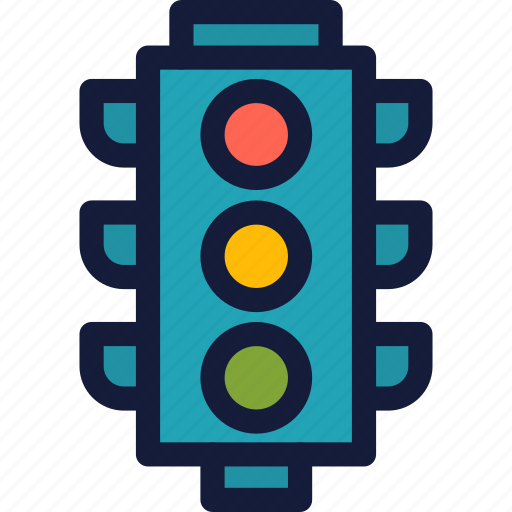 location, map, marker, navigation, pin, pointer, trafficlight icon