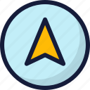 arrow, location, map, marker, navigation, pin, pointer icon