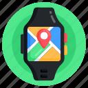 smartwatch navigation, smartwatch location, smartwatch, navigation watch, wristwatch