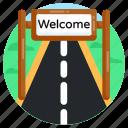 avenue, road, path, highway, motorway