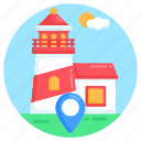 sea tower, lighthouse location, lighthouse, sea navigation, location pointer