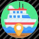 ship location, cruise location, ship navigation, watercraft, sea route