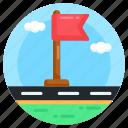flagpole, destination flag, flag location, flag, destination