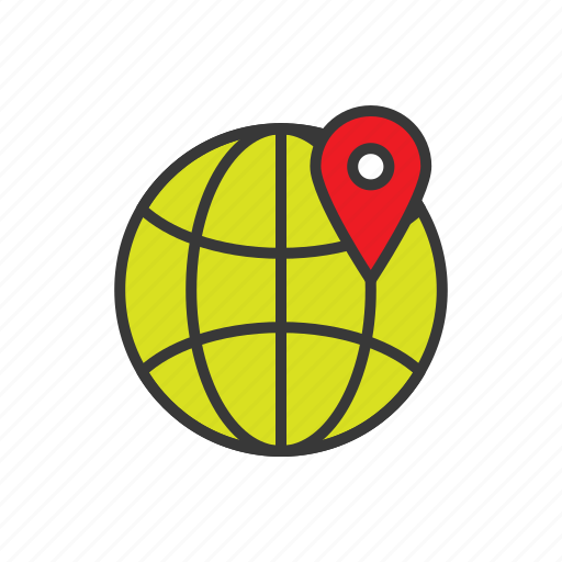 earth, geo targeting, location, map, navigation, planet, world icon