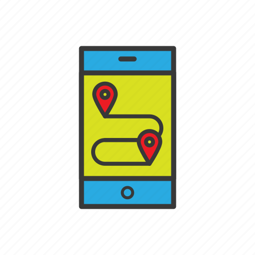 geo targeting, location, map, navigation icon