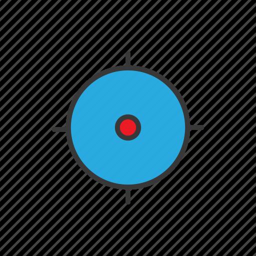 goal, navigation, sniper, target icon