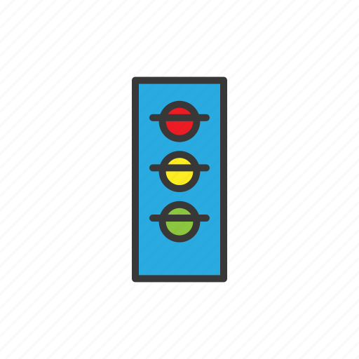 navigation, traffic light icon