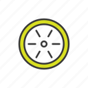 car wheel, wheel icon