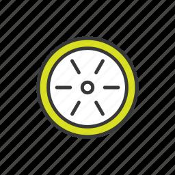 car wheel, wheel icon