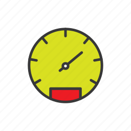 dashboard, gauge, meter, speedometer, speedometer counter icon