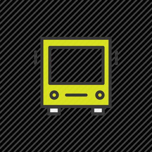 bus, navigation, public, transport, transportation, vehicle icon