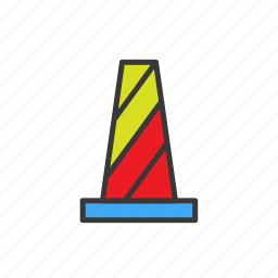 cone, construction, navigation, road, road construction icon