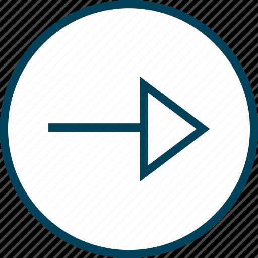 Arrow, go, menu, navigation, next icon - Download on Iconfinder