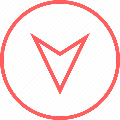 Arrow, down, gps, menu, navigation icon - Download on Iconfinder