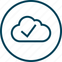 check, cloud, mark, menu, navigation icon