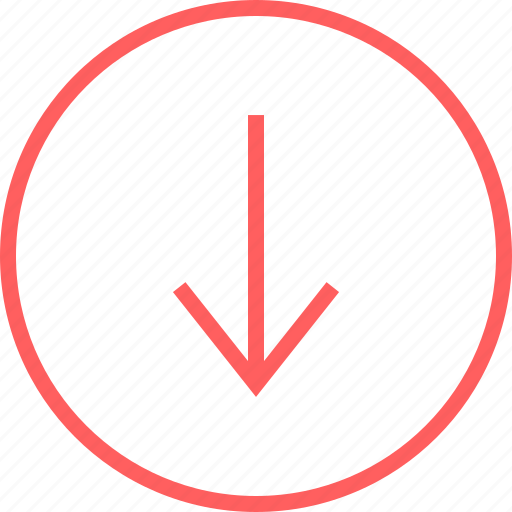 Arrow, down, menu, navigation, point icon - Download on Iconfinder