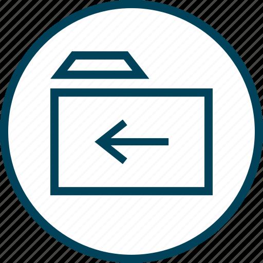 arrow, back, folder, menu, navigation icon