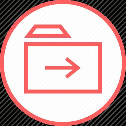 arrow, folder, menu, navigation, next icon
